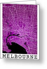 Melbourne Street Map - Melbourne Australia Road Map Art On Color Greeting Card