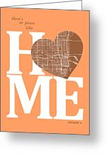 Miami Street Map Home Heart - Miami Florida Road Map In A Heart Greeting Card
