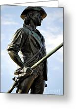Minute Man Statue Concord Massachusetts Greeting Card