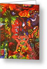 Modern Abstract Painting Original Canvas Art Young Life By Zee Clark Greeting Card