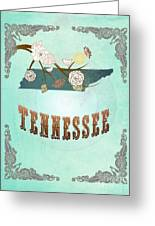 Modern Vintage Tennessee State Map  Greeting Card