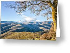 Monte Cinto From Col De San Colombano In Corsica Greeting Card
