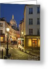 Montmartre Twilight Greeting Card