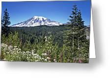 Mount Ranier Greeting Card