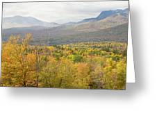 Mountains In Fall Mount Blue State Park Weld Maine Greeting Card