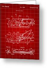 Mouse Trap Patent - Red Greeting Card