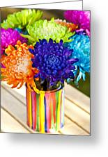 Multicolored Chrysanthemums  Greeting Card