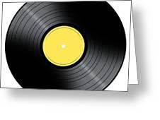 Music Record Greeting Card