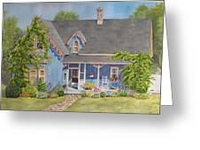 My Blue Heaven Greeting Card by Mary Ellen Mueller Legault