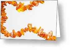 Natural Amber Necklace Greeting Card