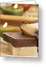Natural Soaps Greeting Card by Mythja  Photography
