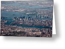 New York City Aerial Greeting Card