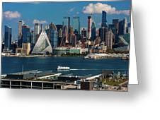 New York City Skyline As Seen Greeting Card