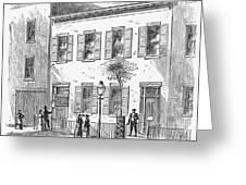 New York: Dispensary, 1868 Greeting Card