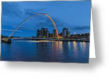 Night On The Tyne Greeting Card