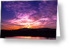 October Sunrise In The Oc Greeting Card