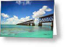 Old Bahia Honda Bridge Florida Keys Greeting Card