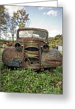 Old Junker Car Greeting Card