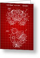 Optical Refractor Patent 1985 - Red Greeting Card