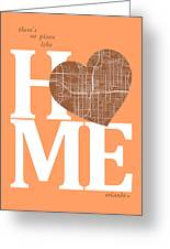 Orlando Street Map Home Heart - Orlando Florida Road Map In A He Greeting Card