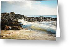 Paako Beach Makena Maui Hawaii Greeting Card