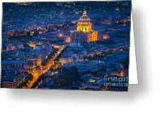 Paris Overhead Greeting Card