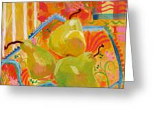 3 Pears Greeting Card