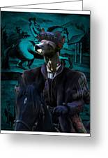 Peruvian Hairless Dog Art Canvas Print Greeting Card