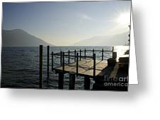 Pier In Backlight Greeting Card