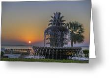 Waterfront Park Glowing Greeting Card