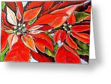 Poinsettias Greeting Card