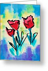 3 Poppies Greeting Card