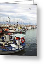 Port Of Aegina Greeting Card