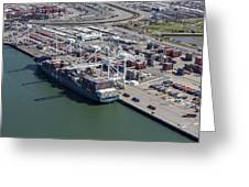 Port Of Oakland, Oakland Greeting Card