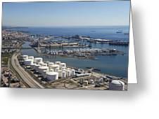 Port Of Tarragona, Catalonia Greeting Card