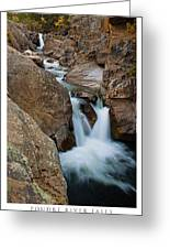 Poudre River Falls Fort Collins Greeting Card