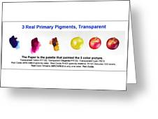 3 Primary Pigments - Apple Greeting Card
