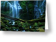 Proxy Falls Oregon Greeting Card