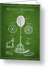 Punching Apparatus Patent Drawing From1895 Greeting Card by Aged Pixel