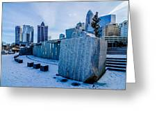 Rare Winter Scenery Around Charlotte North Carolina Greeting Card