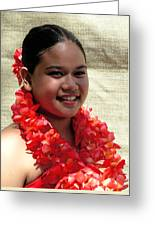 Red Lei Greeting Card