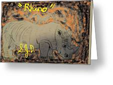 Rhino Greeting Card by Joe Dillon
