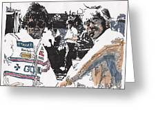 Rick Mears And Roger Penske At Indianapolis Greeting Card