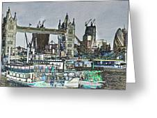 River Thames Sketch Greeting Card