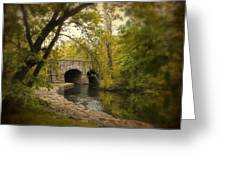 Riverbank Reflections Greeting Card