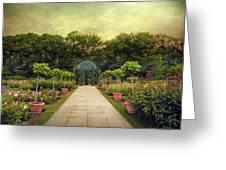 Rose Garden Gazebo Greeting Card
