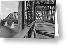 Route 66 - Chain Of Rocks Bridge Greeting Card