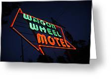 Route 66 - Wagon Wheel Motel Greeting Card