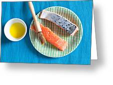 Salmon Fillets Greeting Card