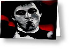 Scarface 2013 Greeting Card by Luis Ludzska